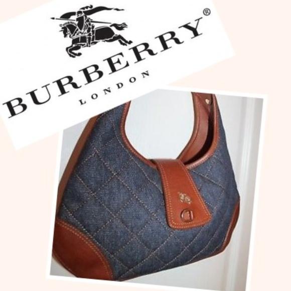621374085e93 Burberry Handbags - Burberry Small Quilted Denim Bag